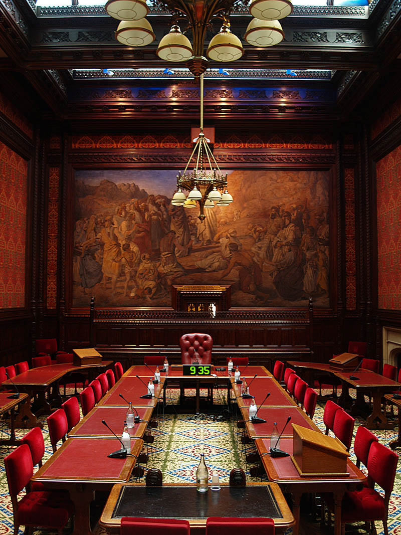Palace Of Westminster Moses Room A Lighting Project By
