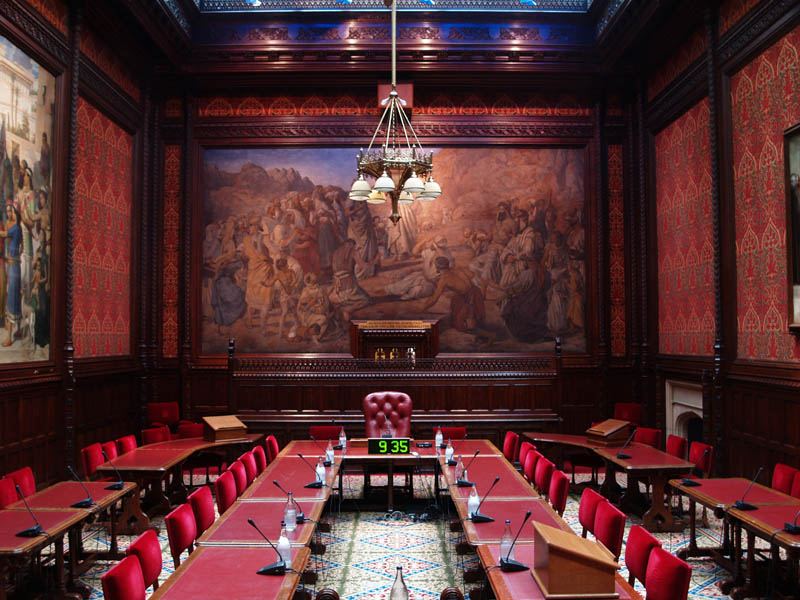 Palace Of Westminster Moses Room A Lighting Project By Light And Design Associates Ltd