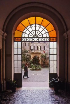 I shot this in Rome, Italy, when I was 17 years old, with my trusty Canon A-1. Not brilliant, but an example of how ubiquitous framing with doors is.