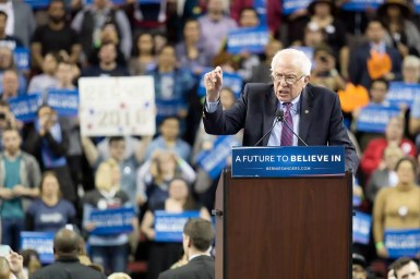 bernie-railing-against-the-establishment