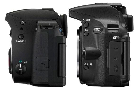 Nikon-d5500-and-pentax-k-70-left-sides