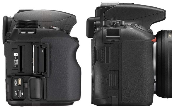Pentax-k-70-and-Nikon-D5500-right-sides