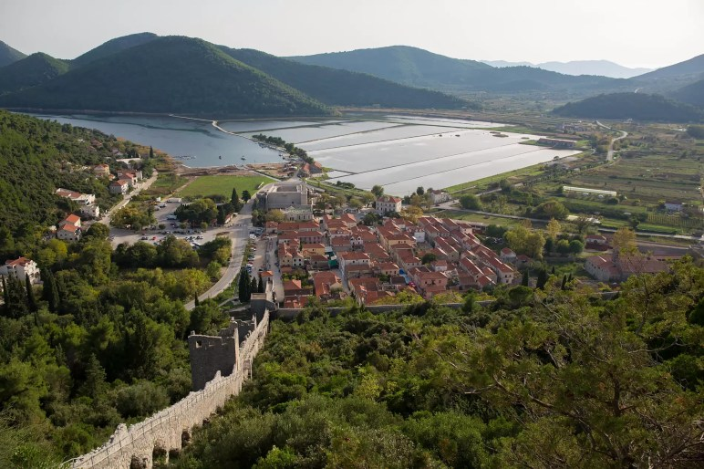 Photography in dubrovnik part 3 north of the city and ston from high on the ston city wall you can see across the valley to a harbor voltagebd Image collections