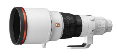 Sony-400mm-f2.8-OSS-GM-Lens-left-angle-with-hood
