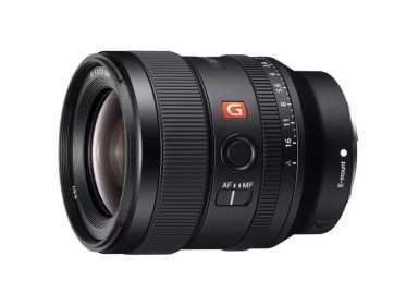 Sony 24mm f1.4 GM lens left angle