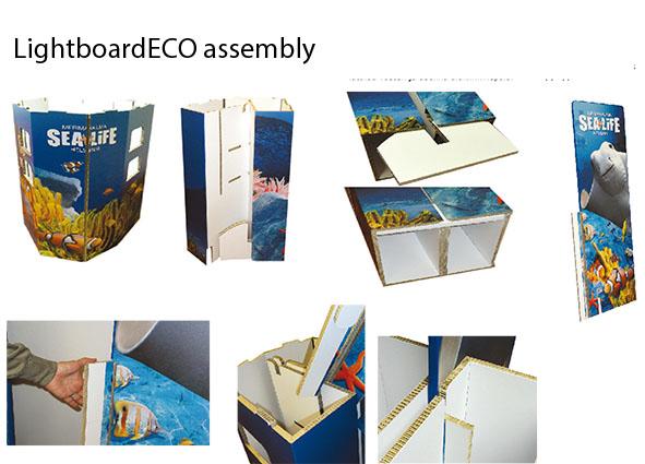 Eco Display infotiski -kokoamisohje