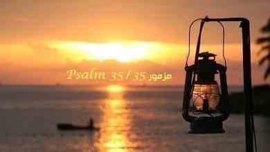 مزمور 35 – المزمور الخامس والثلاثون – Psalm 35 – عربي سويدي مسموع ومقروء