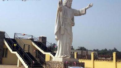 بالصور إزاحة الستار عن أكبر تمثال للسيد المسيح في القارة الأفريقية