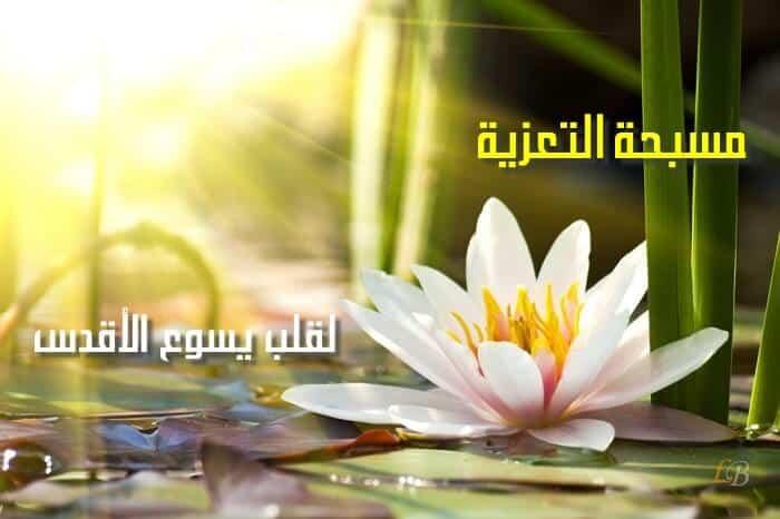 صلاة المسبحة إكراماً لوجه يسوع الأقدس وصلاة تعزية لقلبه الطاهر المقدس
