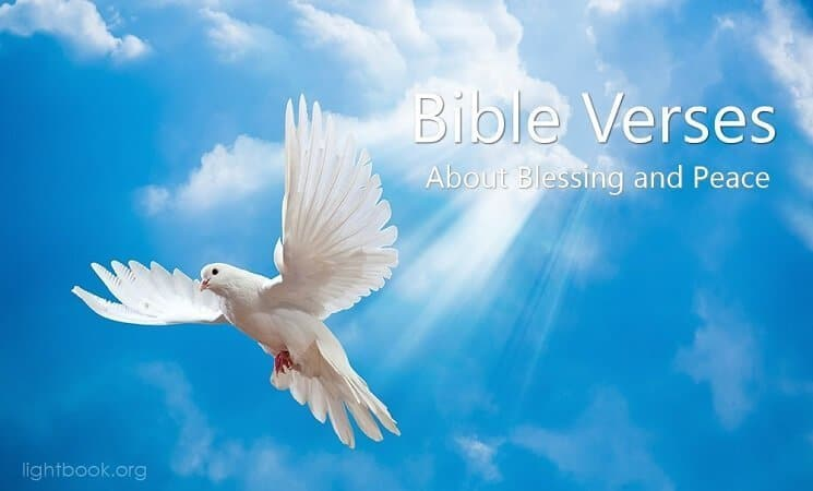 Bible Verses about Blessing and Peace ( 5 ) in English and Arabic