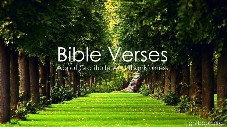 Bible Verses about Gratitude And Thankfulness ( 3 ) in English and Arabic