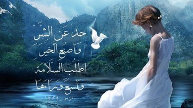 Photo of آيات حول السلام والآمان Paix – عربي فرنسي