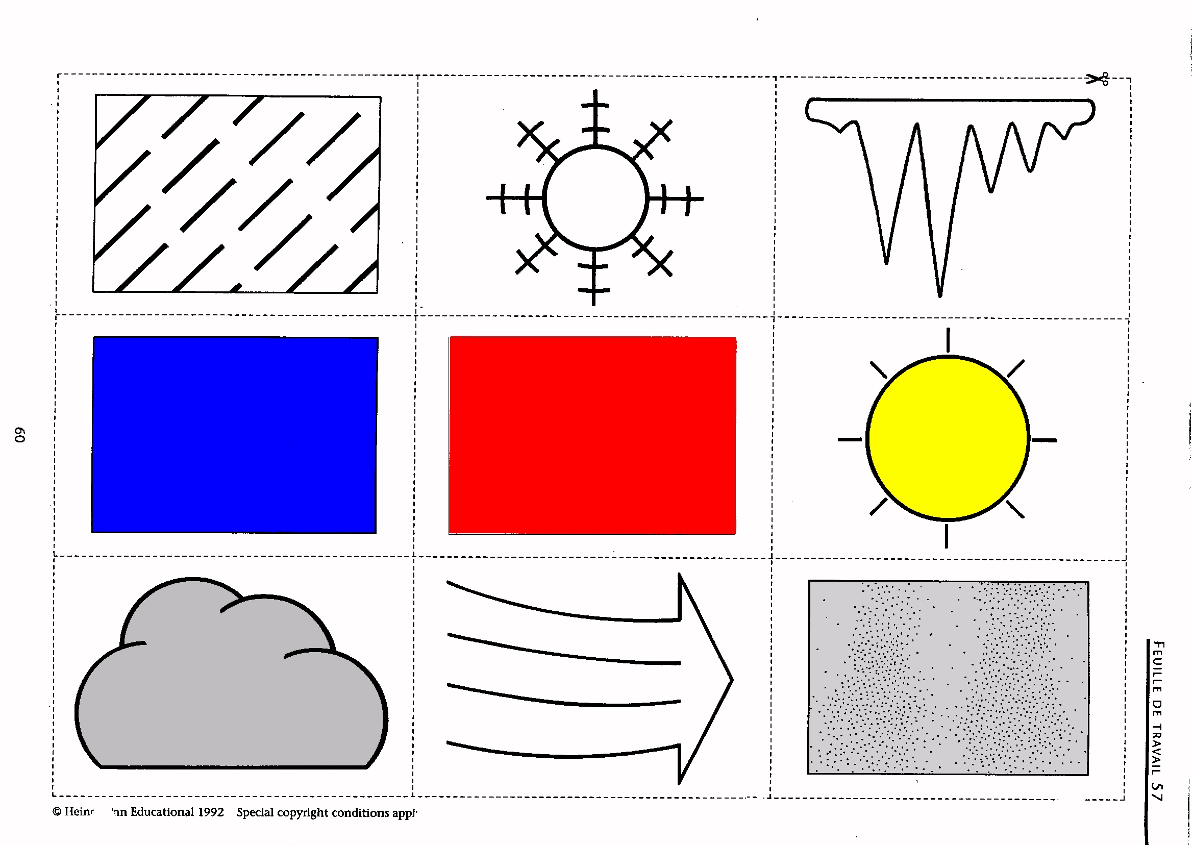 Worksheets Weather Symbols Worksheet Cheatslist Free