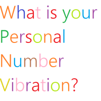 Numerology - What's your Personal Number Vibration?