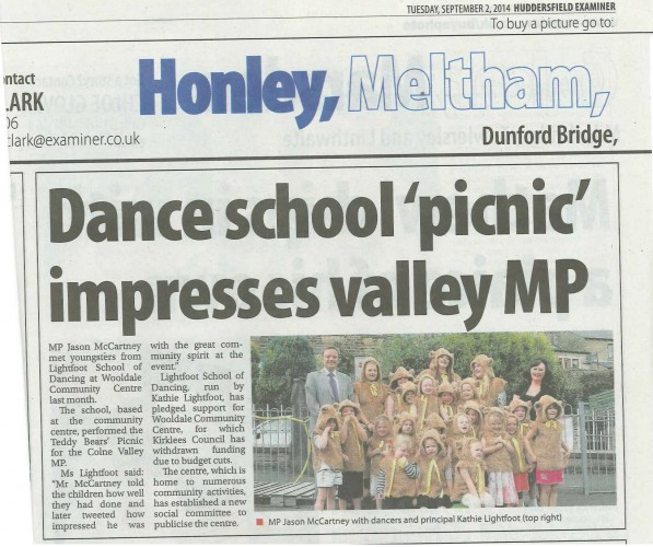 Huddersfield Examiner Aug Article - Teddy Bears