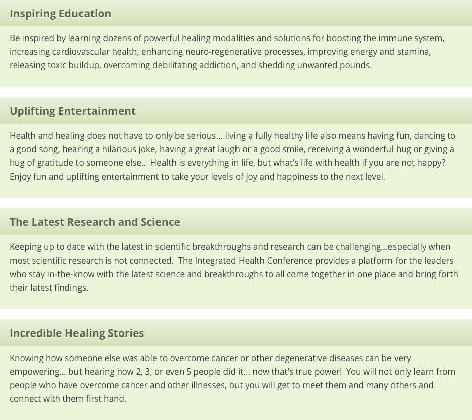 2015 Integrated Health International Conference