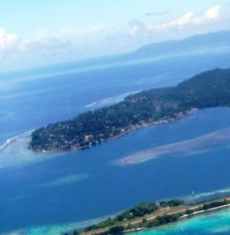 Gizo view with airport's island