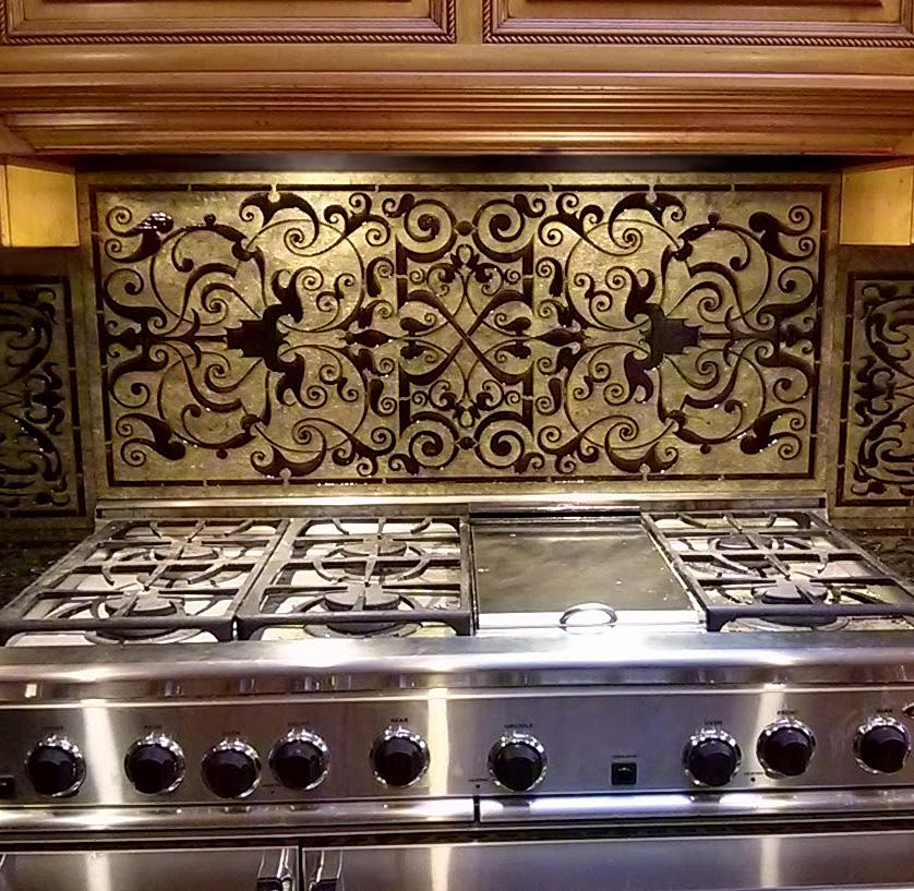 laser engraved stone tile designs