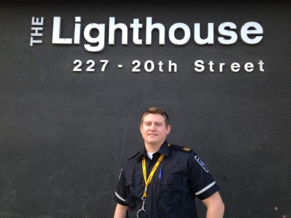 Mitchell Ehr is one of seven paramedics who is providing care at the Lighthouse as a part of a pilot project that resulted from the Region's 14 Day Challenge.