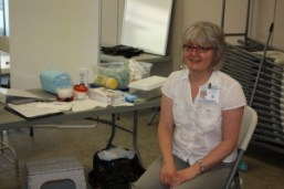 Nicole Masson-Greenhorn at her drop-in clinic
