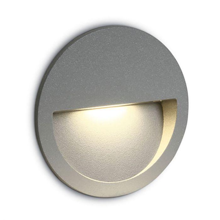 round led outdoor wall light light grey
