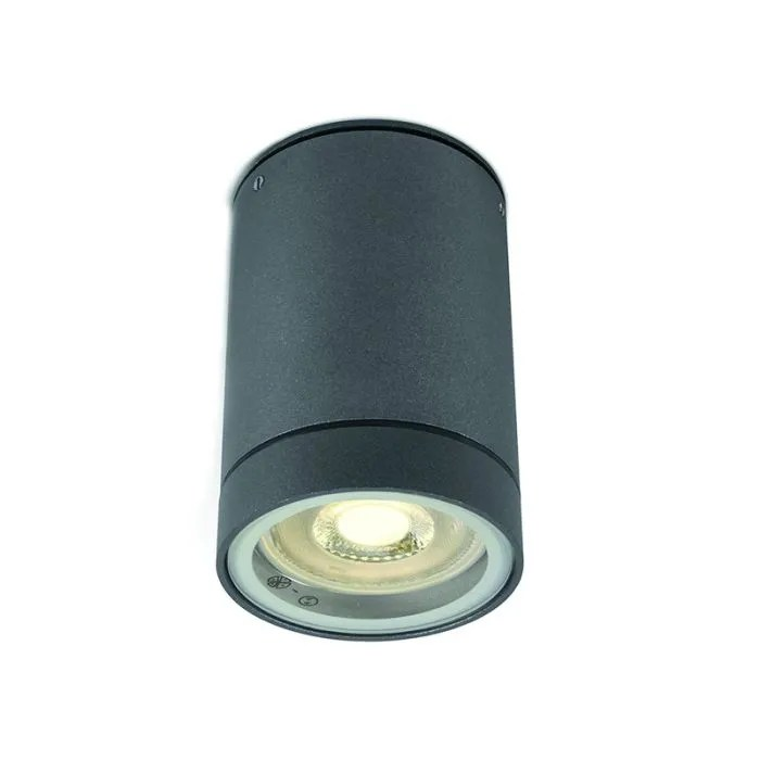 Cylinder Outdoor Flush Ceiling Light Anthracite Lighting Direct