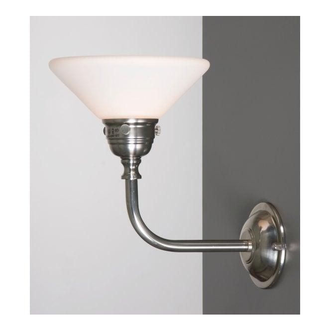 bath classic traditional bathroom wall light in satin nickel with opal glass shade