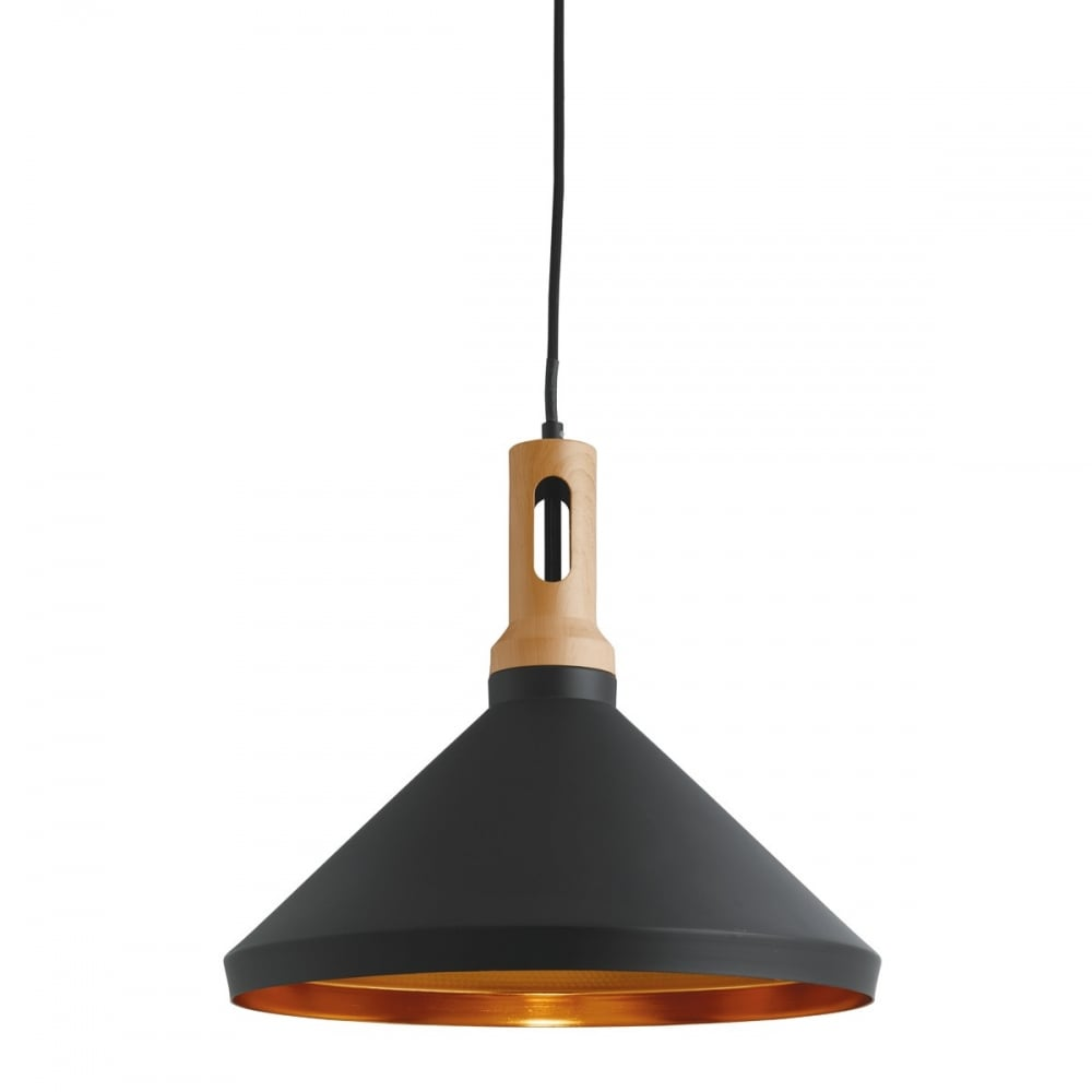 A Contemporary Pendant With Black Outer Gold Inner And