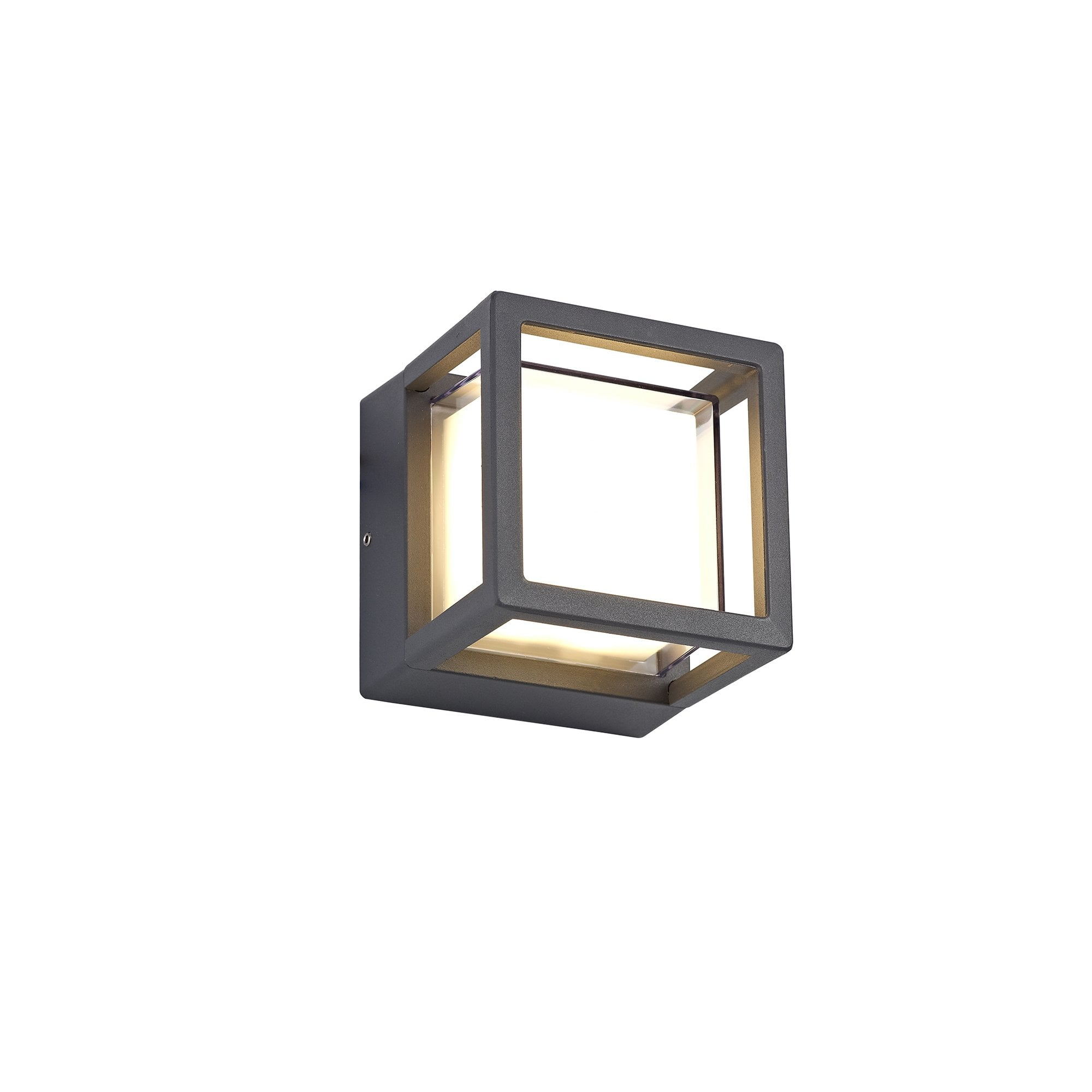 ruben outdoor led light in anthracite finish with opal diffuser squared