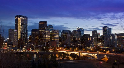 Centre Street Bridge and City of Calgary Skyline