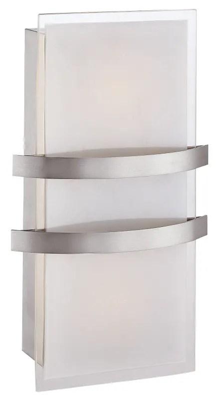 Access Lighting 62218 Bs Opl Brushed Steel Opal Single