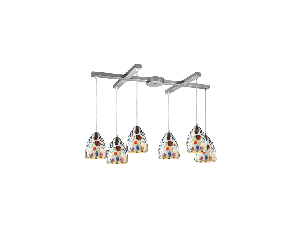 Elk Lighting 542 6 Gemstones Six Light Pendant Ceiling