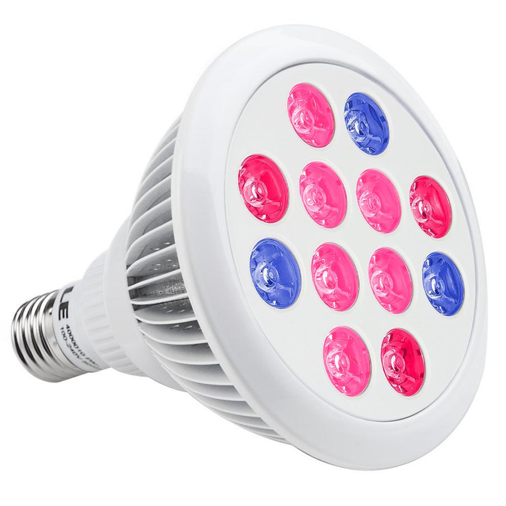 LE 12W PAR38 Coloured Bulbs Red Blue Hydroponic LED Grow