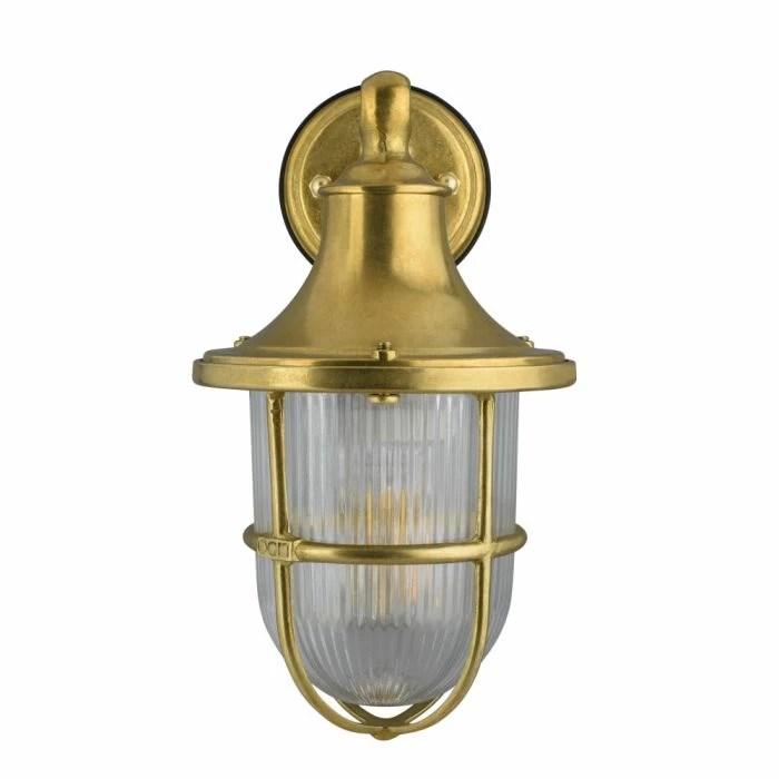 elipta greenwich outdoor wall lantern light solid brass