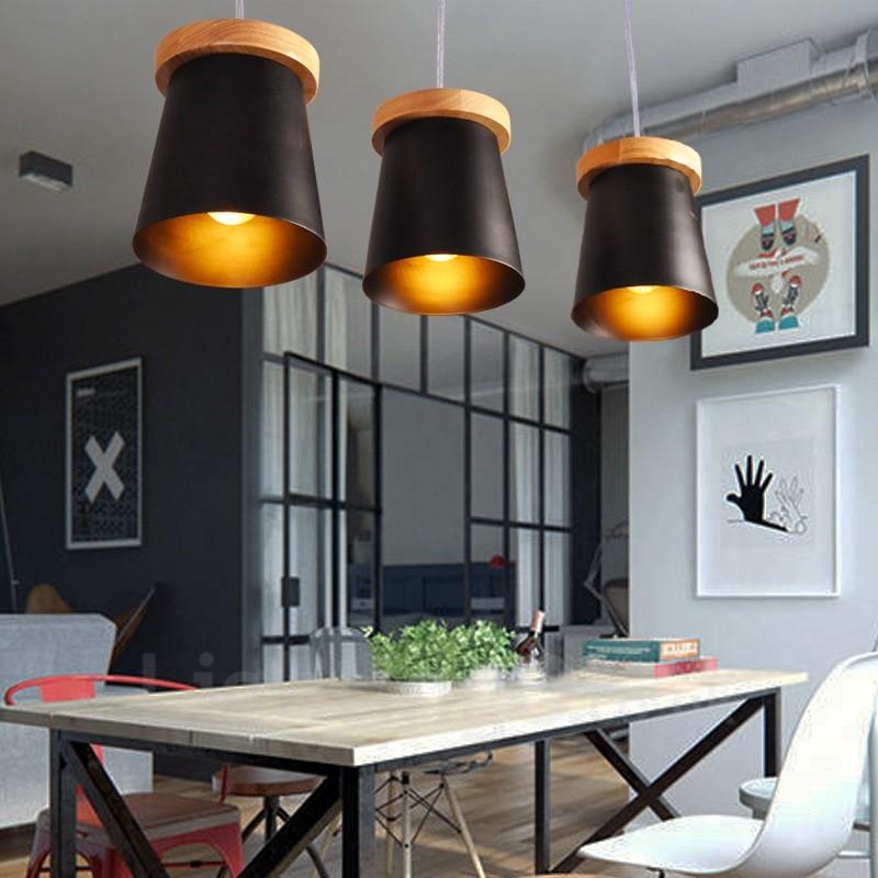3 Light Wood Modern Contemporary Nordic Style Pendant