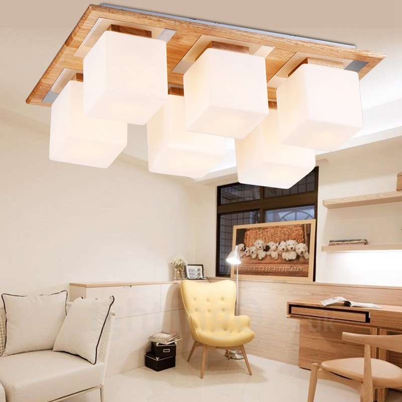 6 Light Modern Contemporary Flush Mount Ceiling Lights