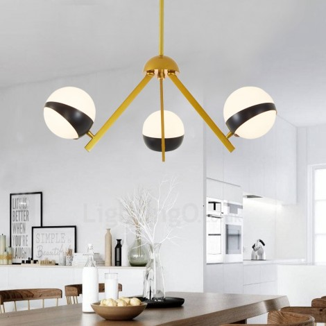 3 Light Modern Contemporary Nordic Style Ceiling Lights