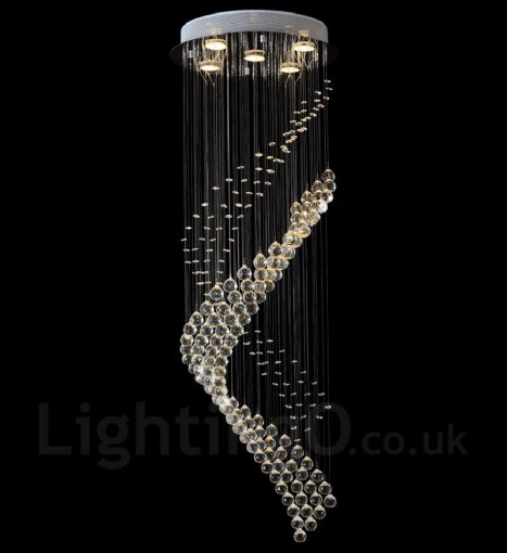 5 Lights Modern LED Crystal Ceiling Pendant Light Indoor Chandeliers     5 Lights Modern LED Crystal Ceiling Pendant Light Indoor Chandeliers Home  Hanging Down Lighting Lamps Fixtures