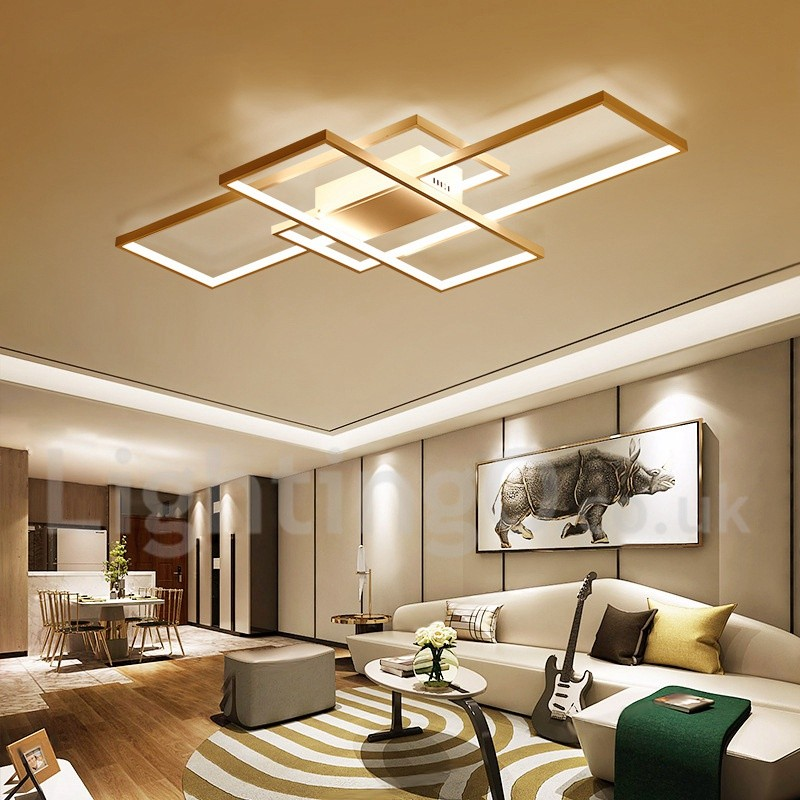 LED Modern /Comtemporary Alumilium Painting Ceiling Light ... on Wall Lighting For Living Room id=86864