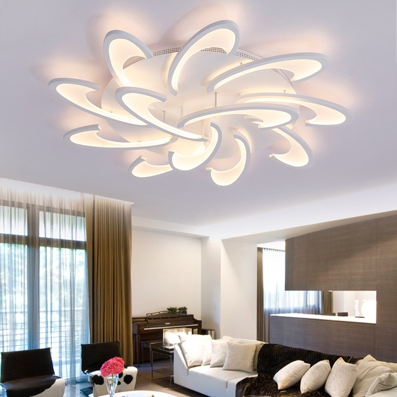 acrylic flush mount high quality new modern led ceiling light for living room bedroom dining room study room office metal