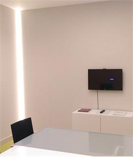 interior wallwashing with led lights