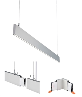 linear suspended lights for offices