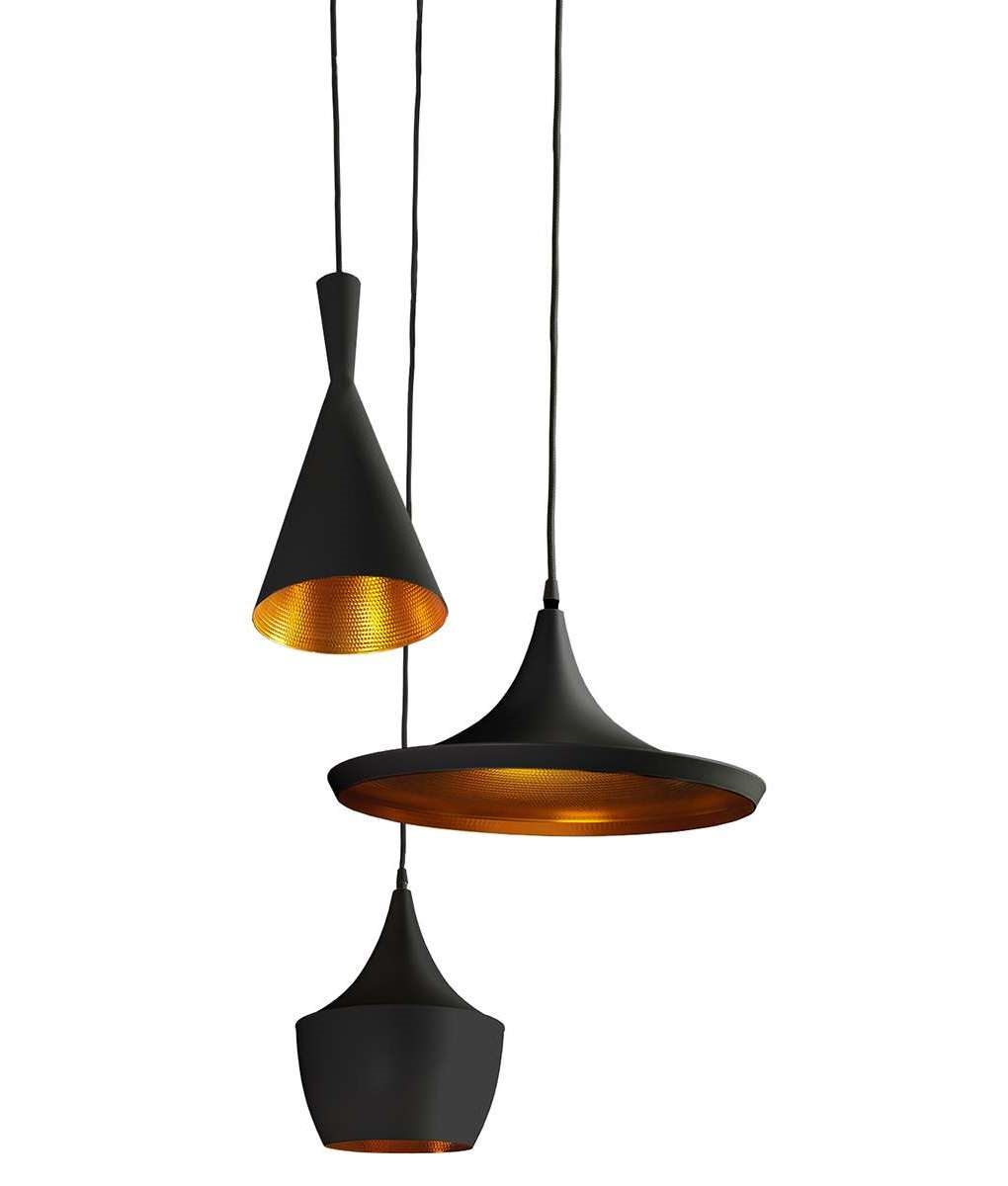 Triple Mixed Pendant Cluster With Led Lamps