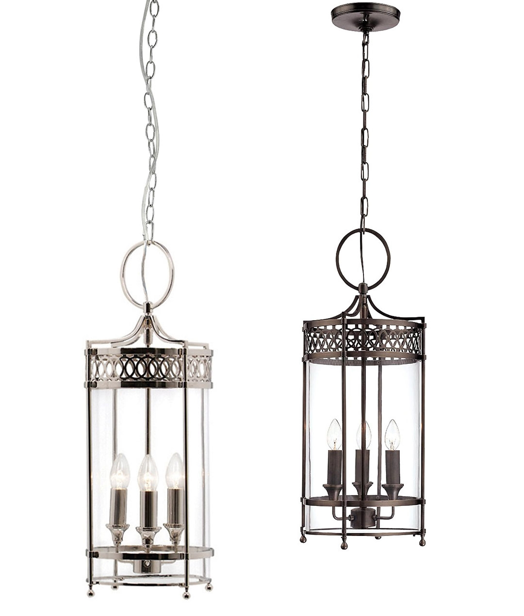 Chain Suspended Georgian Style Hallway Lantern