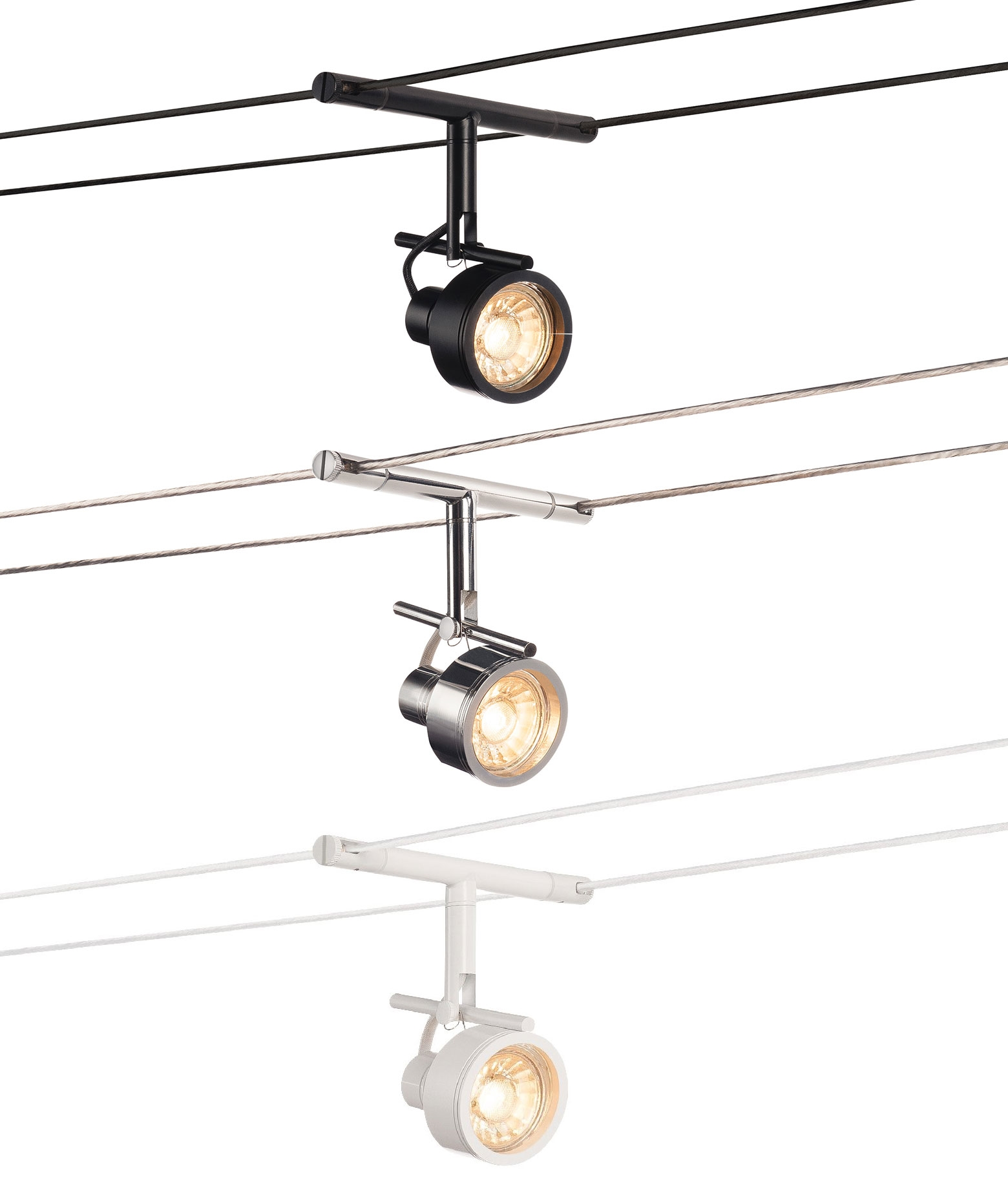 Tension Wire Adjustable Lampholder Available In Chrome