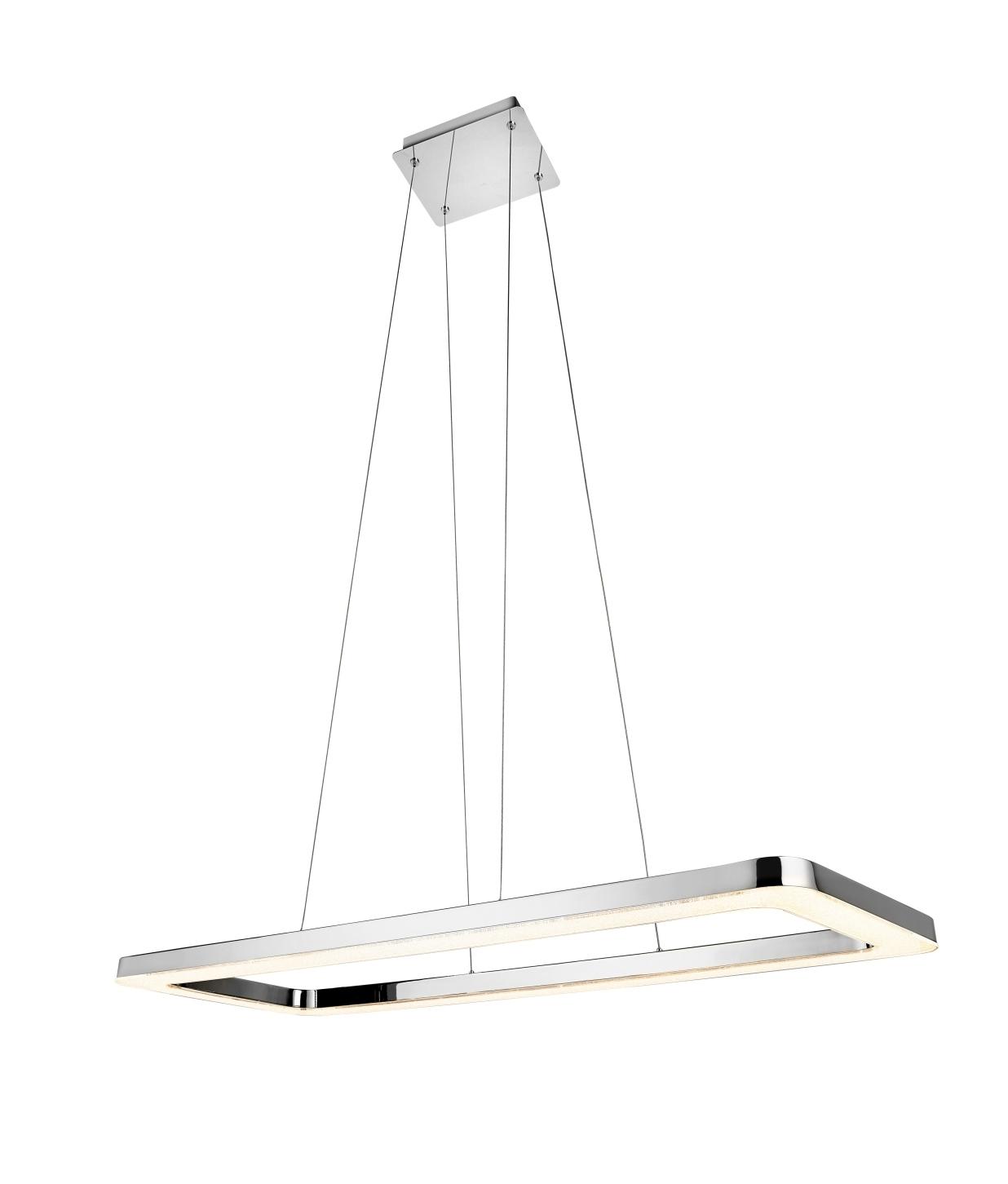 Polished Chrome Oblong Suspension Light