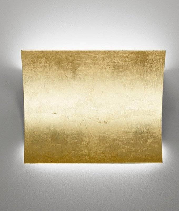 Led Up Amp Down Gold Leaf Wall Light