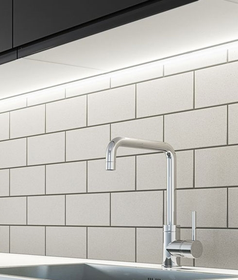 slimline led profile for use under kitchen cabinets