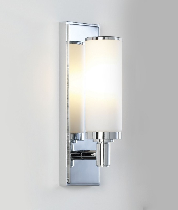 Polished Chrome IP44 Slim Bathroom Wall Light