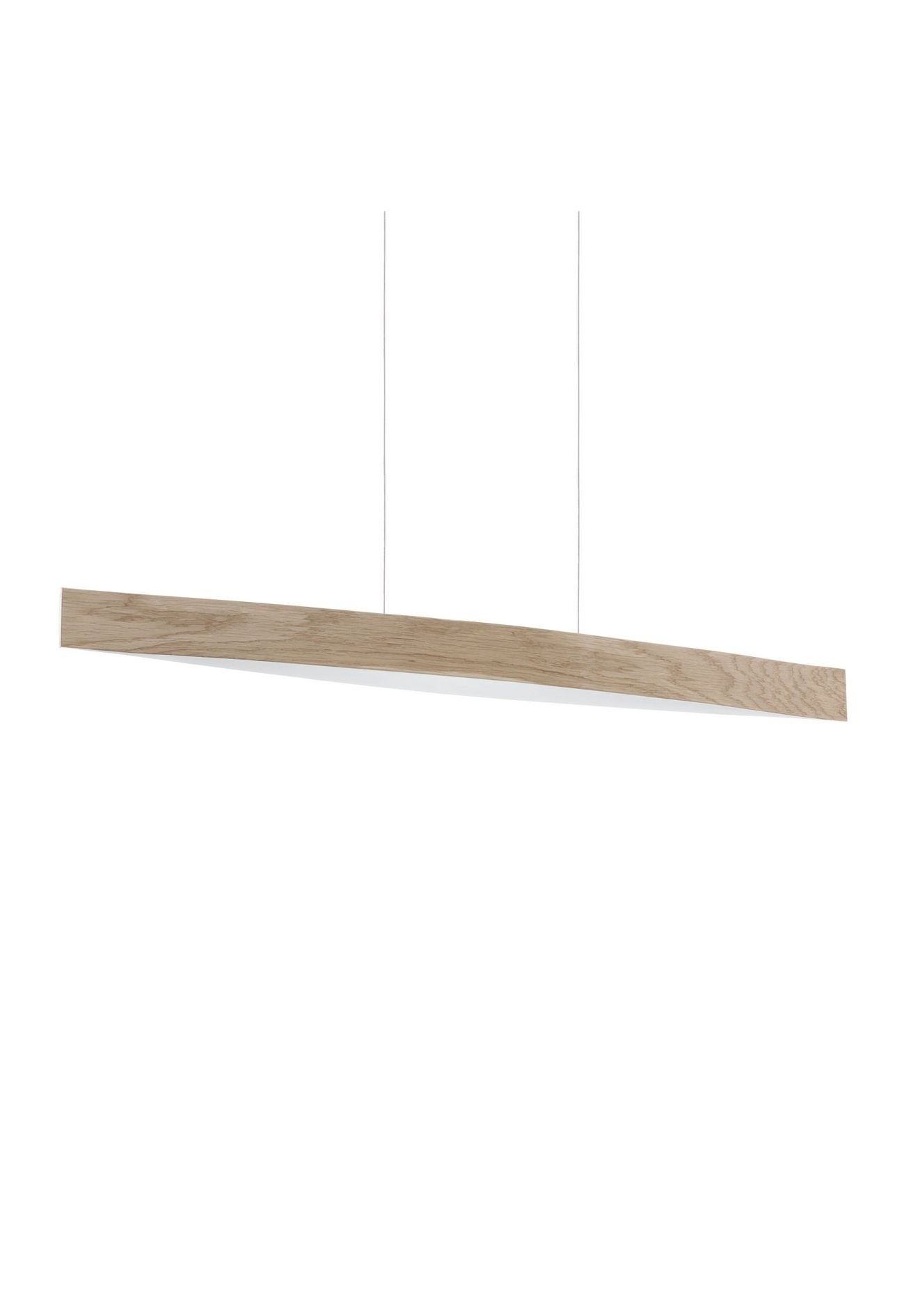 Slender Suspended Light Pendant In Wood Grain Design